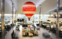 Burberry opens hot air balloon installation at Heathrow
