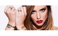 Chiara Ferragni cria joias inspiradas nos Rolling Stones
