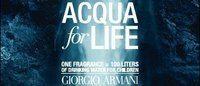 Campanha 'Acqua for Life' Armani cresce na América Latina, Ásia e África