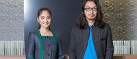渋谷ヒカリエ・オフィス受付の制服をアツシナカシマがデザイン